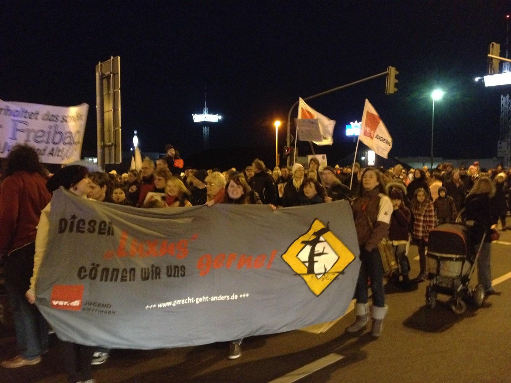 Freibad Demo 07.03.2012